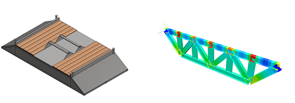 Stress analysis on structural frame