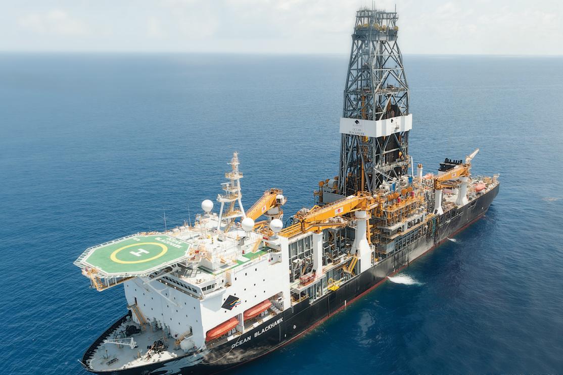 The sixth-generation Ocean Blackhawk drillship