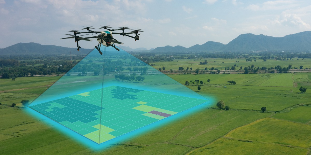 drone to survey land - civil engineering